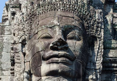 Голова виска Bayon, Siem Reap, Камбоджа стоковое фото rf