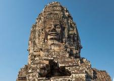 Голова виска Bayon, Siem Reap, Камбоджа стоковые изображения rf