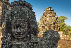 Голова виска Bayon, Siem Reap, Камбоджа стоковое фото