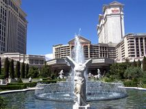 Голова дворца Лас-Вегас Caesars дальше Стоковое Изображение RF