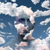 Голова в облаках Стоковое Изображение RF