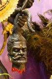 Голова в руке статуи Kali внутрь стоковые фотографии rf