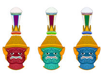 Голова гигантский делать эскиз к, тайский стиль искусства Стоковые Изображения