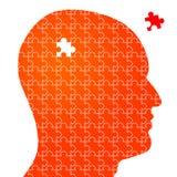 Голова головоломки Стоковые Изображения