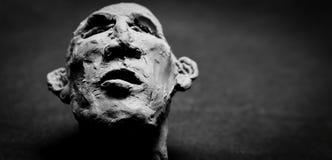 Голова глины стоковое изображение