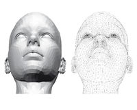 Голова девушки Стоковая Фотография RF