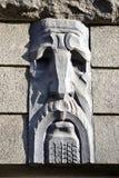Голова декоративного камня на todesopfer в Харькове Стоковое фото RF