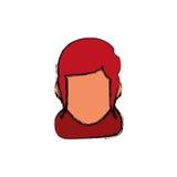 Голова женщины безликая бесплатная иллюстрация