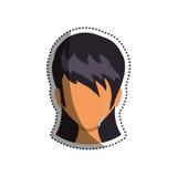 Голова женщины безликая иллюстрация вектора