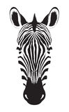 Голова зебры на белой предпосылке Логотип зебры Illu вектора Стоковое Изображение RF