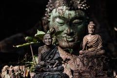 Голова зеленого цвета Будды Стоковое фото RF