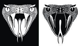 Голова змейки иллюстрация вектора