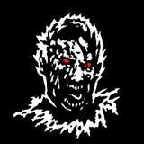 Голова зомби остервенения также вектор иллюстрации притяжки corel Стоковая Фотография RF