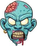 Голова зомби шаржа Стоковое Фото