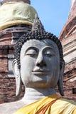 Голова конца-вверх статуи Будды Таиланд Стоковое Изображение