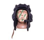 Голова куклы в зеленой краске войны Стоковое Изображение RF