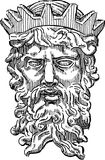 Голова мифологического короля иллюстрация вектора