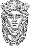 Голова мифологического ферзя бесплатная иллюстрация