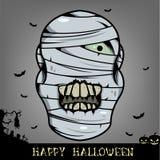 Голова мумии хеллоуина Стоковое фото RF