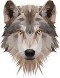 Голова низкого поли волка стоковое фото rf