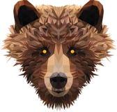Голова низкого поли медведя стоковое фото