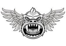 Голова обезьяны с крылами Стоковые Изображения RF