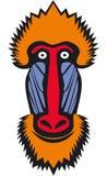 Голова обезьяны Mandrill Стоковое Изображение