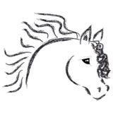 Голова лошади на белой предпосылке бесплатная иллюстрация