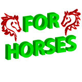 голова лошади 3D на белой предпосылке с текстом иллюстрация вектора