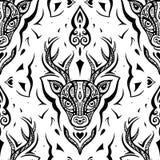 Голова оленей картина безшовная Стоковые Изображения RF