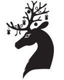 Голова оленей рождества Стоковая Фотография RF