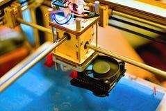 голова печатания 3D Стоковая Фотография