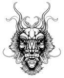 Голова дракона стиля Woodblock бесплатная иллюстрация