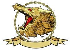 Голова дракона с крылами Стоковые Фото