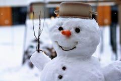 Голова реального снеговика Стоковые Изображения