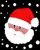 Голова Санта Клауса в красной крышке Стоковое Фото