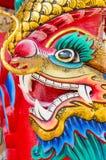 Голова статуи дракона стоковые изображения