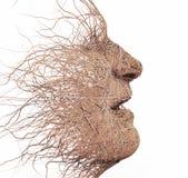 Голова сделанная ветвей бесплатная иллюстрация
