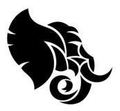Голова слона Стоковое Изображение