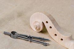 голова текстуры скрипки и древесины Стоковые Изображения