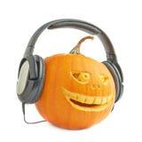 голова тыквы хеллоуина Джек-o'-фонариков Стоковые Фото