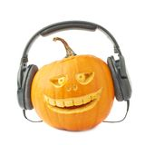 голова тыквы хеллоуина Джек-o'-фонариков Стоковая Фотография