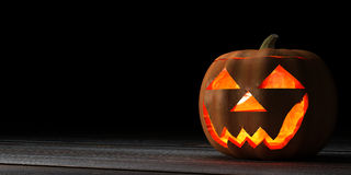 Голова тыквы хеллоуина Стоковое Изображение RF