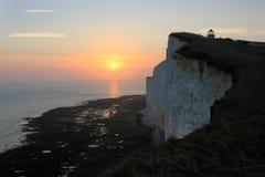 Голова утеса Beachy, Великобритания стоковое изображение rf