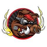 Голова хряка для талисмана команды спорта Стоковая Фотография RF