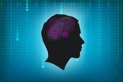 Голова человека с спиралью Стоковое Фото