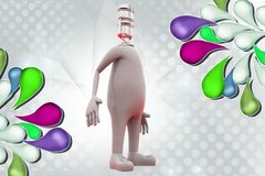 голова человека 3d иллюстрации mic Стоковые Изображения RF