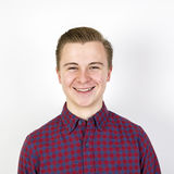 Годовалый мальчик милые 16 в студии Стоковые Фотографии RF