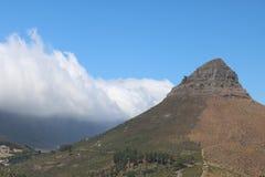 Голова льва увиденная от холма сигнала, Кейптауна, Южной Африки Стоковое фото RF