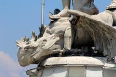 Голова дьявола как скульптура дракона Стоковые Изображения